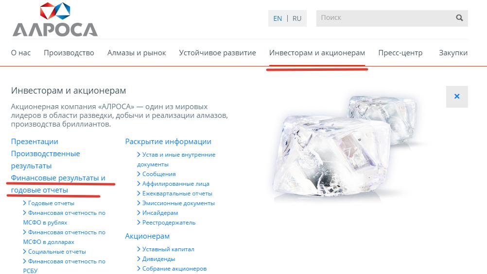 Как найти отчетность на сайте компании